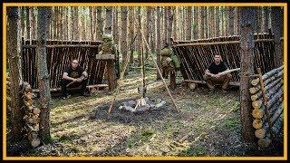 Bushcraft Camp: Super Shelter - Lagerbau Bushcraft - Primitive Technology