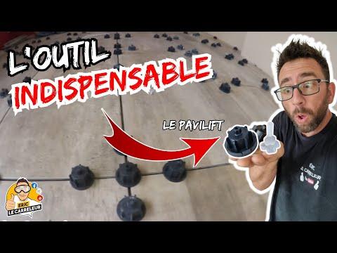 Tuto Conseils - Comment Poser du carrelage avec des croisillons nivelant - Utilisation PAVILIFT