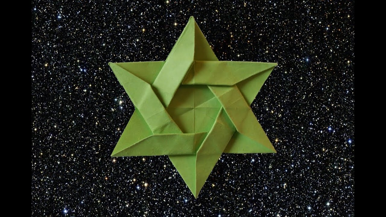 how to make an origami star of david hd youtube