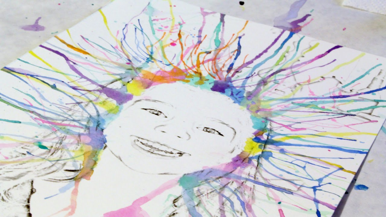 How to create fun watercolor art with your kids diy for Simple watercolor paintings for kids