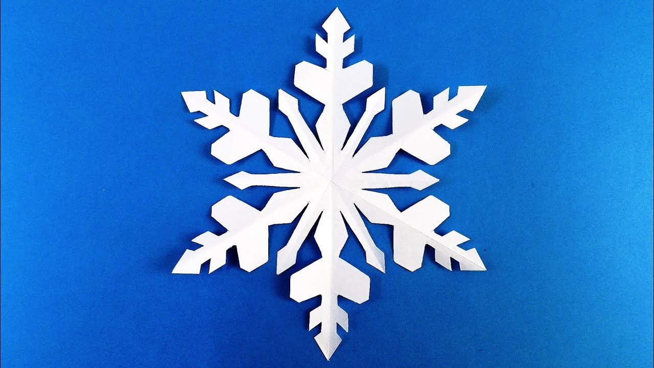 snowflake out of paper