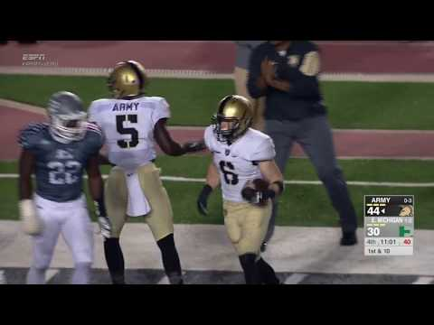 Highlights: Army West Point Football Vs. Eastern Michigan 9-26-15