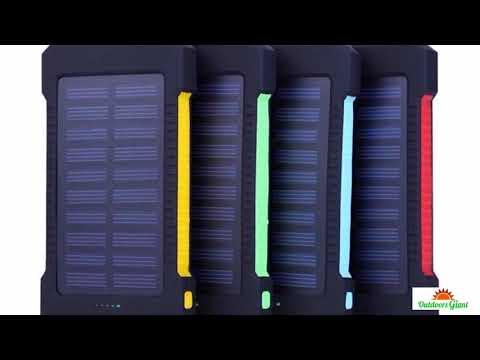 2018 New Portable Waterproof Solar Power Bank 30000mah Dual-USB Solar Battery powerbank for all Phon