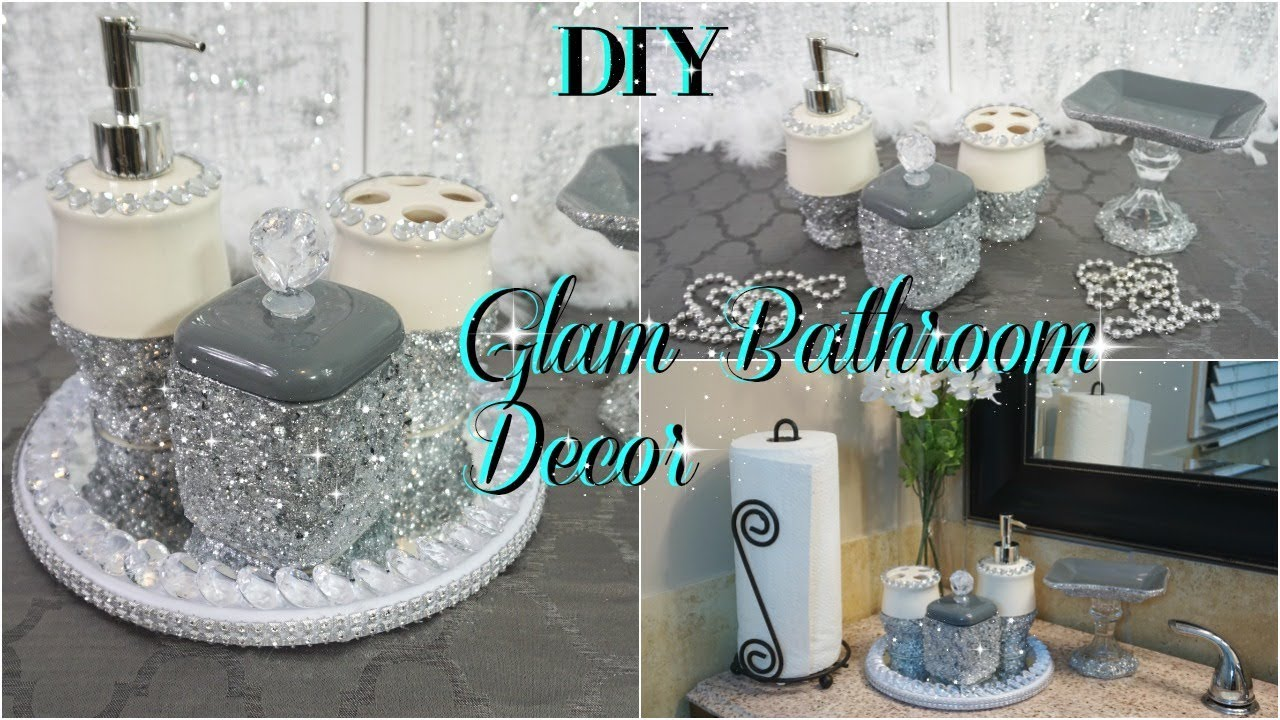 Diy dollar tree glam washroom decor bathroom - Diy bathroom decor ideas ...