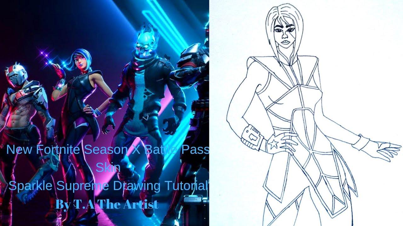 New Fortnite-Season X/10 Battle Pass Skin  How To Draw Fortnite