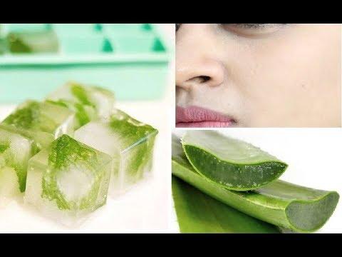 Aloe Vera Ice Cubes _ DIY Summer Skin Care Hack For Irritated Skin