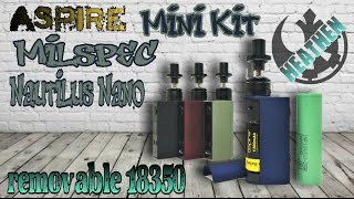 Aspire Milspec/Nautilus Nano Mini Kit I Heathen(This product was purchased at VaporDNA: http://bit.ly/1QbOmPp use code DNA10 for 10% off Right to Vape Campaign for the AVA/R2BSmokefree ..., 2016-09-20T02:36:37.000Z)