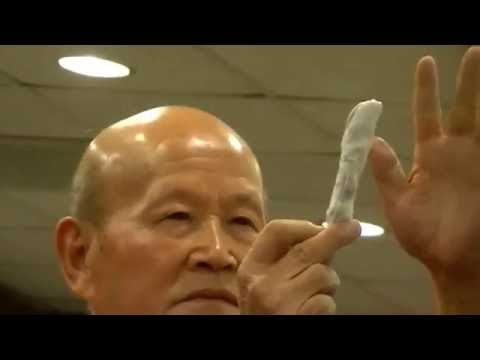 Grandmaster Zhou  Ting Jue Projecting  Fire Qigong   with Sifu Ford Edwards