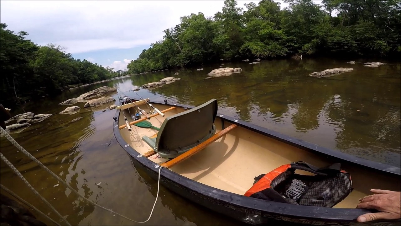 Best solo canoe my old town 119 canoe modifications for Fishing canoe setup