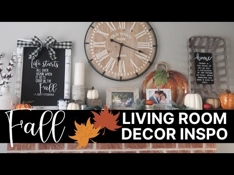 Fall Decorating Inspiration   Decorate with Me Living Room