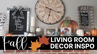 Fall Decorating Inspiration | Decorate with Me Living Room