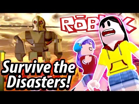 Roblox Survive the Disasters - I am a PRO NOT-SURVIVOR!! - DOLLASTIC PLAYS with RadioJh Games Audrey