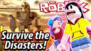 Roblox Survive the Disasters - I am a PRO NOT-SURVIVOR!! - DOLLASTIC PLAYS mit RadioJh Spiele Audrey