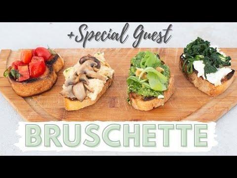 How To Make Italian Bruschetta (4 Vegetarian Ways) | SPECIAL GUEST
