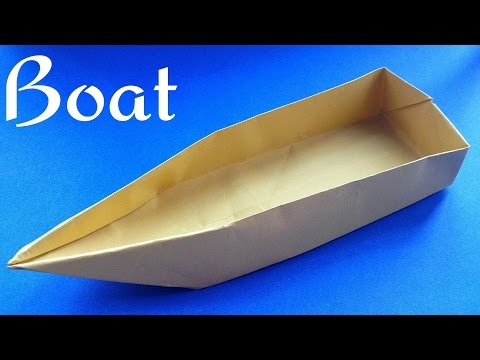 Origami Paper Single Point Floating Boat