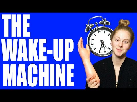 I made an alarm clock that slaps you with a rubber arm to wake you up. My face now hurts