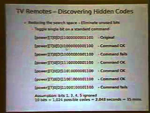 DEF CON 13 - Major Malfunction, Old Skewl Hacking - InfraRed