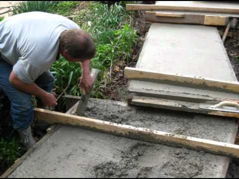 Pouring Concrete Steps Exposed Aggregate Finish Youtube