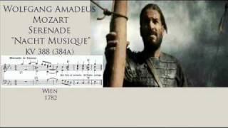 """W.A. Mozart Serenade """"Nacht Musique"""" KV 388 3/4 Menuetto in Canone"""