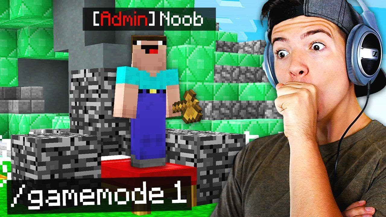 We gave a noob ADMIN on Hypixel (MINECRAFT BEDWARS!)