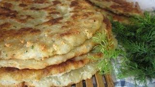 Рецепт - Сырные лепёшки