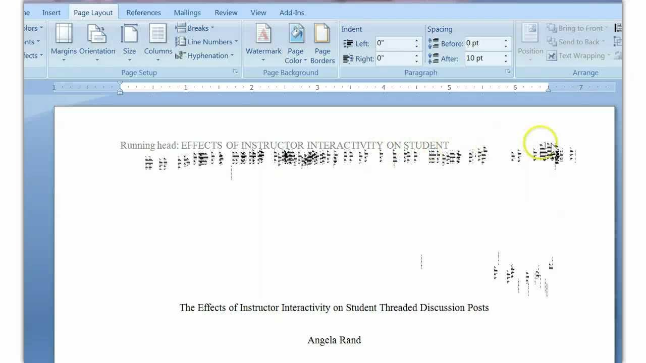 apa style running head in msword tutorial