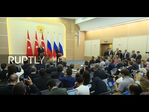 LIVE: Putin and Erdogan hold joint press conference in Sochi - English