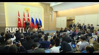 LIVE  Putin and Erdogan hold joint press conference in Sochi