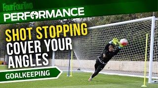 Goalkeeper training drill | How to cover your angles | Swansea City Academy