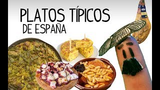 Platos típicos de España, gastronomia española - Aprender español