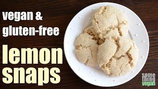Lemon Snap Cookies (vegan & Gluten-free) Something Vegan