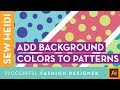 How to Add a Background Image to a Pattern Swatch in Illustrator