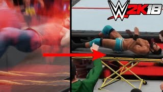 10 Times You Could Seriously Injure Your Opponent In WWE 2K18