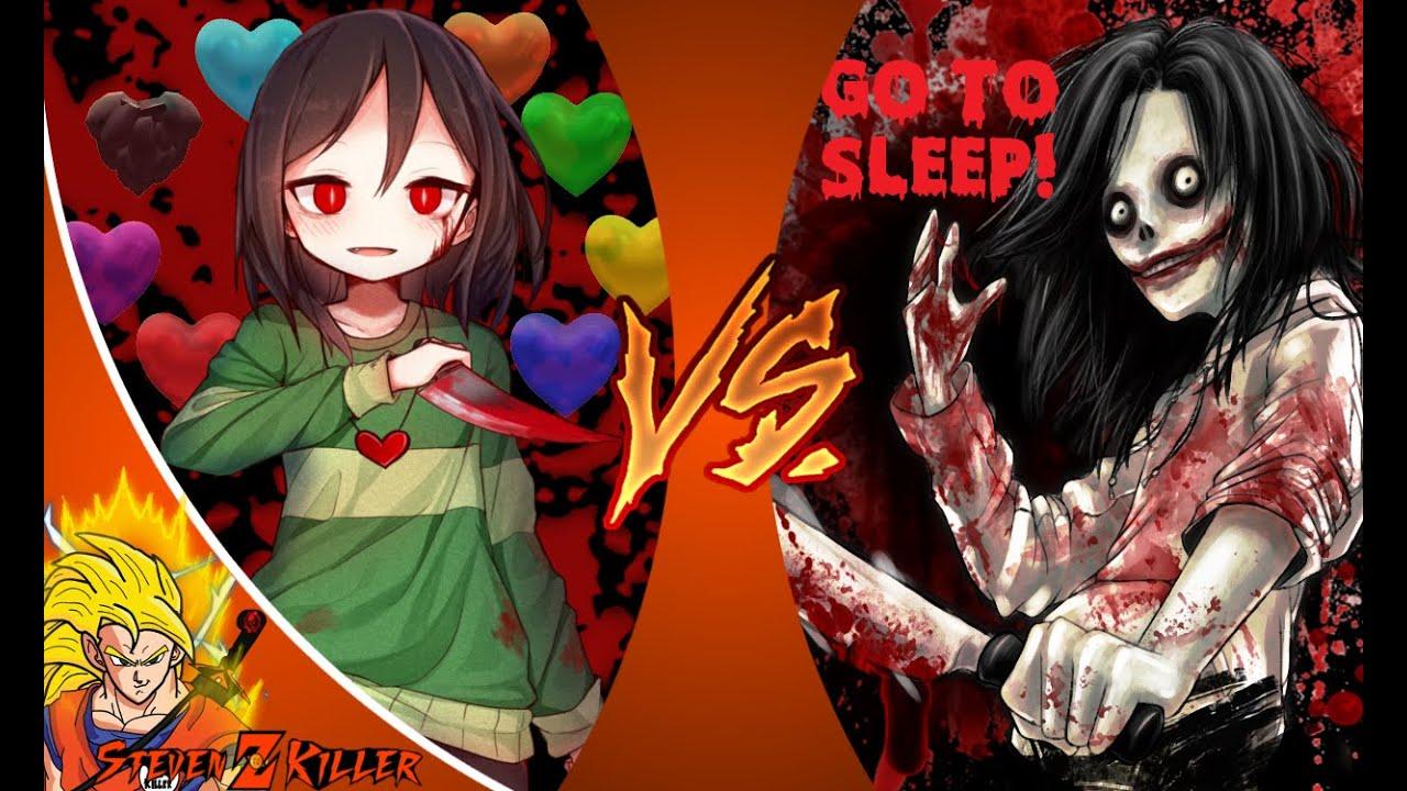 Download CHARA vs JEFF THE KILLER! (Undertale vs Creepypasta) Cartoon Fight Club Episode 93 REACTION!!!