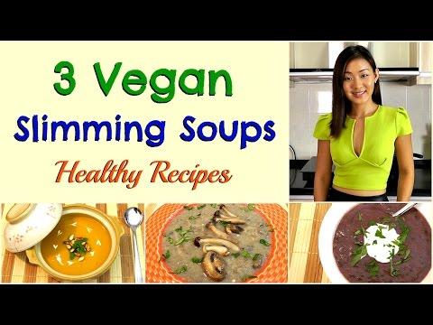 3 VEGAN Slimming Soups (Holiday Recipes)