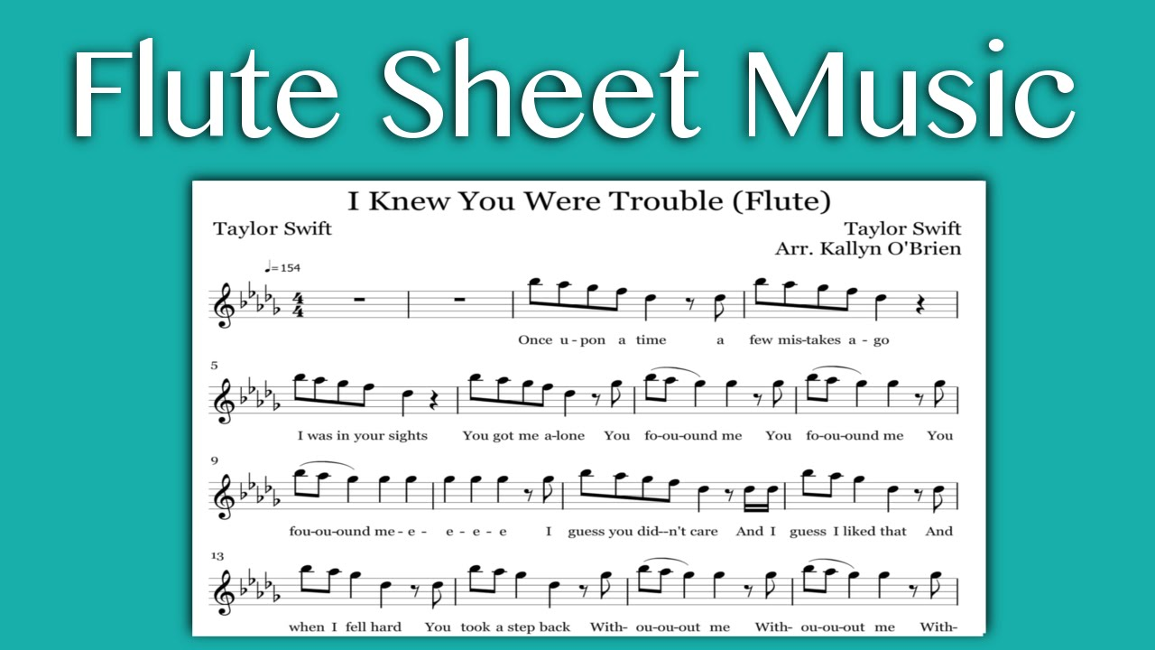 I knew you were trouble taylor swift flute sheet music youtube i knew you were trouble taylor swift flute sheet music hexwebz Images