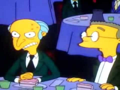 Happy birthday mr burns criticising advise