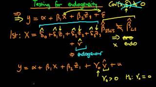 testing for endogeneity