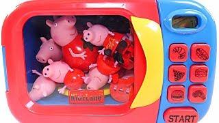 Mejores Videos Para Niños - Peppa Pig Microwave Lots of Peppa Pigs Fun For Kids