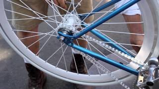 FIXIE Chain Tightening - Flip Flop Hub - Single-Speed Fixed Gear - Pt 1- BikemanforU