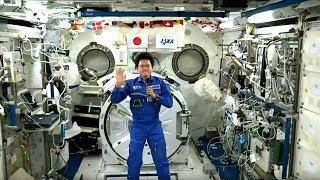 宇宙の金井宣茂さんと交信 宇宙で縄跳びすると… 金井宣茂 検索動画 16