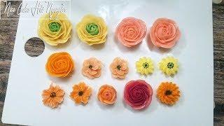 Cách Bắt Hoa Kem Bơ Đơn Giản Với Đuôi 104 - How to Make Buttercream Flower with Tips 104