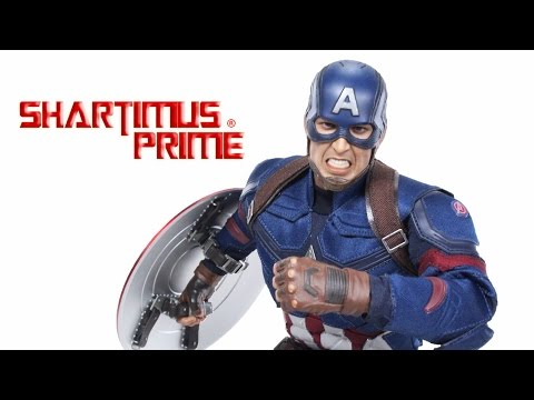 Hot Toys Captain America Civil War Movie Masterpiece 350 1:6 Scale Movie Collectible Figure Review