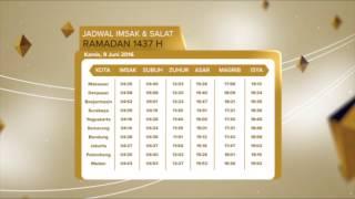JADWAL IMSAK & SHOLAT 9 JUNI - RTV