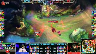 MYM (MrRallez Sivir) VS SK (Forgiven Graves) Highlights - 2015 EU LCS Spring W1D2