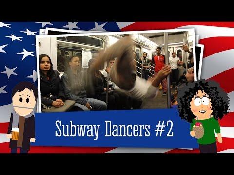 Танцоры в метро Нью Йорка отжигают  New York subway dancers awsome