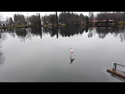 Race to the 'Finnish' Line: Man Sprints Across Frozen Lake in Finland