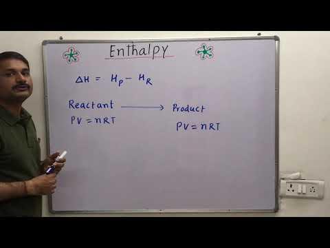 Enthalpy / Relation between delta H and delta U