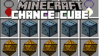 Minecraft CHANCE CUBES MOD / LUCKY BLOCKS BUT A LOT DIFFERENT!! Minecraft