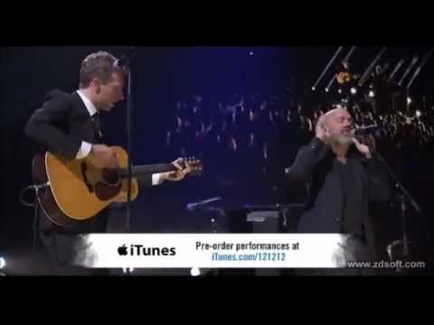 Chris Martin ft. Michael Stipe - Losing My Religion live at 12.12.12 The Concert for Sandy Relief